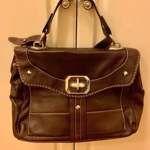 OR by Orany Chocolate brown leather handbag.